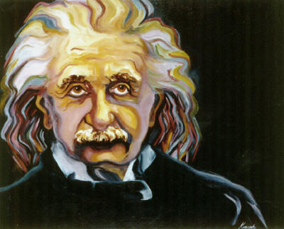 """Einstein"" - oils - Private Collection (Not For Sale)"